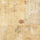 Backgroun sale de collage d'éphémères de carte postale de cru Photographie stock libre de droits