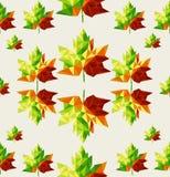 Backgroun sem emenda geométrico do teste padrão das folhas de outono Fotografia de Stock Royalty Free