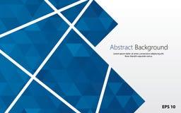 backgrounc geométrico abstrato da forma com vetor azul dos polígono ilustração stock