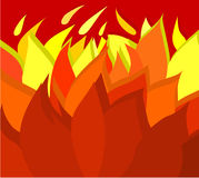 Background 03. Red background with a flames Stock Image