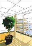 Background 04 japanese room. Minimal japanese room background house Royalty Free Stock Images