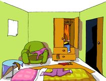 Background 08 teenage room Stock Image