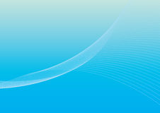 Background 1 - ocean. Background with twirling lines, in light blue Royalty Free Illustration