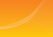 Background 1 - orange. Background with twirling lines Stock Illustration