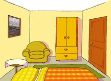 Background 10 teenage room. Classic teenage room background house Royalty Free Stock Photos