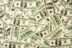 Background of $100 banknotes Stock Photo