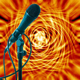Background. Off fire with a microphone Royalty Free Stock Photos