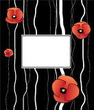 Background. Vector background with poppy flowers Stock Image