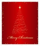 Background. Elegant red background. Christmas background. Vector illustration Stock Image