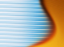 Background. Abstract background  with blue lines  and orange  wave Royalty Free Stock Images