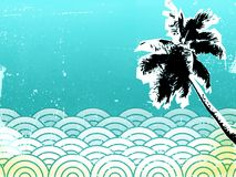 Background 11 beach. Ocean beach palm tree tropical background Royalty Free Stock Image