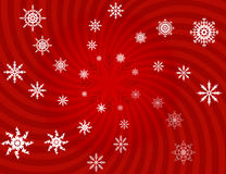 Background. White snowflakes on a red background Royalty Free Stock Image
