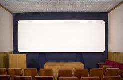 Background. The big white screen in the old Royalty Free Stock Photography