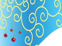Background. Red ball with curls on blue background Stock Photo