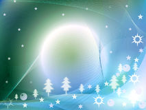 Background. Winter background - stars, lines and balls Stock Photography