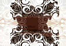 Background. Abstract drawing with classical elements as background for your design Stock Images
