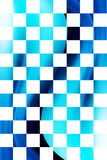 Background. Blue and white squares with dynamic waves. Background Stock Photos