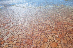 Background. Red stones under water as a background Royalty Free Stock Photos