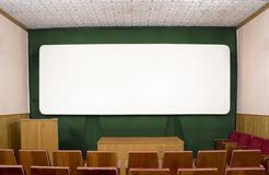 Background. The big white screen in the old Royalty Free Stock Image