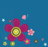 Background. Abstract colorful flowers illustration background Royalty Free Stock Photo