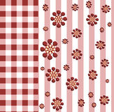 Background. Plaid  background with flowers for use in website wallpaper design, presentation, desktop or brochure backgrounds Stock Photography