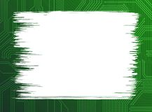 Background. Green circuit background with blank space for text Royalty Free Stock Photography