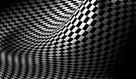 Background. Wavy chess background in spot-light Stock Photo