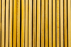 Background. Wood background from yellow bamboo Royalty Free Stock Photography