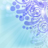 Background. Floral abstract background and blue ray Royalty Free Stock Photos