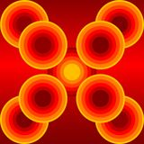 Background. Orange,yellow, and red color circle background Stock Photography