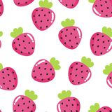 Background. With bright pink strawberry Stock Photography
