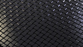 Background. The weaved grid from black strips Stock Photo