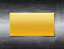 Background. Vector template with brushed metal texture. eps10 Stock Images