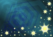 Background. Abstract background made with stripes, exagonal elements and stars Stock Image