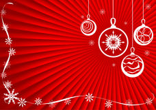 Background-2. Christmas background from snowflakes and toys Royalty Free Stock Photo
