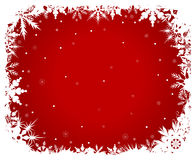 Background-2. White snowflakes on a red background Stock Image