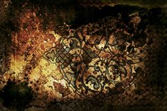 Background. Antiquity illustrated background with arabesque Vector Illustration