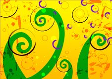 Background. Abstract shape background, yellow, green Stock Illustration