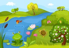 Background. Vector Illustration of a cute background Royalty Free Stock Images