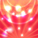 Background. Red abstract background with lights and circles Royalty Free Stock Images