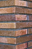Background. Bottom wall of colored bricks royalty free stock photos