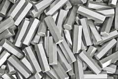 Background. Pile of metal details Stock Photos