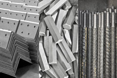 Background. Pile of metal details Stock Image