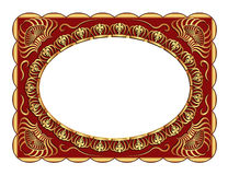 Background. With gold ornaments and copy space Royalty Free Stock Photos