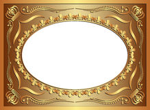 Background. Golden background with ornaments and copy space Stock Image