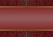 Background. Deep red  background with ornaments Royalty Free Stock Photo