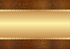 Background. Golden brown background with copy space Royalty Free Stock Photo