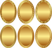 Background. Clip at illustration - oval gold background Royalty Free Stock Photography