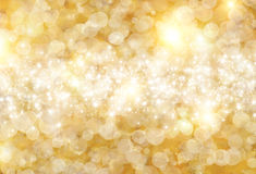Background. The beautiful holiday abstract  background of gold circle with sparklets Royalty Free Stock Images