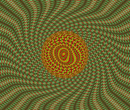 Background. Kaleidoscopic interference pattern of a laser beam reflected by a polymer film Stock Photography